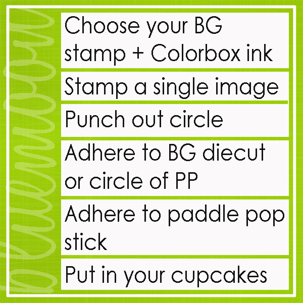 cupcake topper instructions